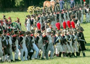 Foto della marcia delle truppe Inglesi