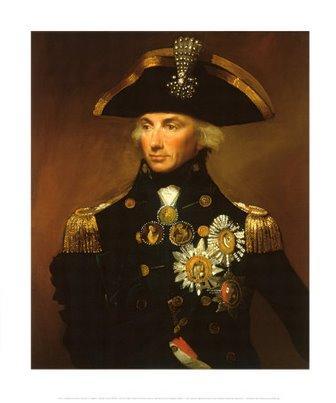 Da notare in questo dipinto Horatio Nelson senza un braccio