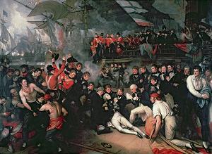 Questa scena raffigura la morte di Horatio Nelson