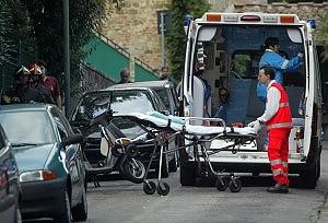 l'ambulanza che soccorse Ilaria Tacchinardi e la sorellina