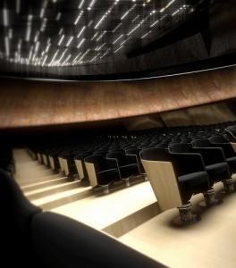Le confortevoli poltrone del Teatro dell'Opera di Firenze