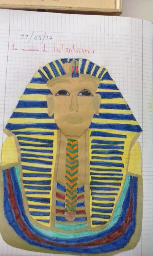 Disegno Di Un Faraone.I Disegni Di Tutankhamon Anno Scolastico 2017 2018