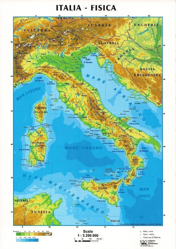 Cartina Italia Politica A Colori.Le Cartine Geografiche Le Cartine Politiche E Le Cartine Fisiche Archivio Anno Scolastico 2019 2020
